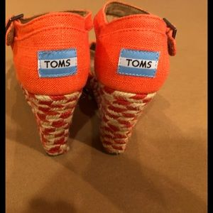 Toms Mixed Rope Wedge Sandals